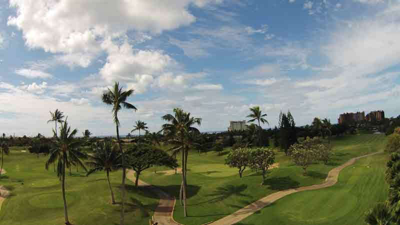 Koolina aerial view of holes 16-18