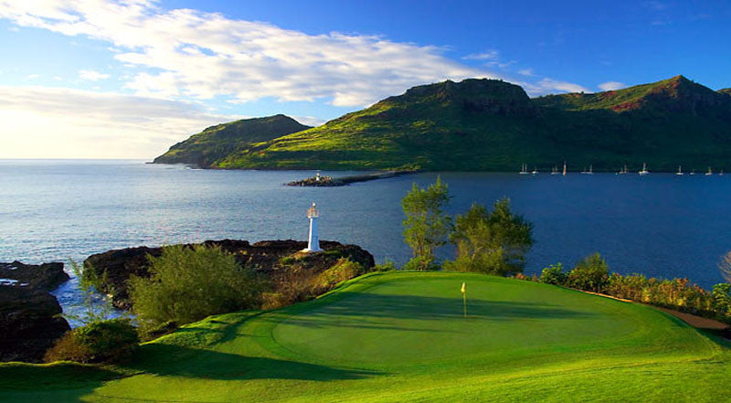 Kauai Lagoons Golf Club Ocean view of hole 16