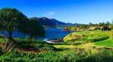 Kauai Lagoons Golf Club incredible views of ocean and mountain