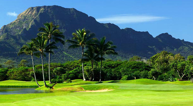 Kauai Lagoons Golf Club Course with amazing ocean and mountain views
