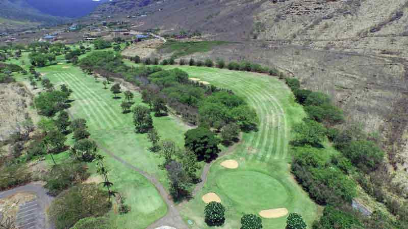 Makaha Valley 10-18 holes from our drone