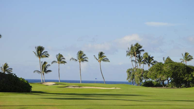 Mauna Lani North approach shot to the 2nd green