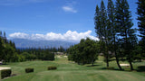 Kapalua Bay teeing up on the par 5 18th hole