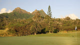Olomana Golf Links with Mount Olomana in the background