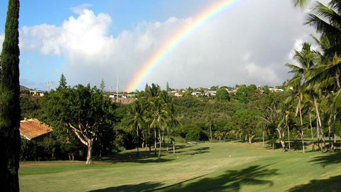 Pearl Country Club and a perfect rainbow