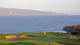 Kapalua Plantation hole 11 green with views of Molokai in back