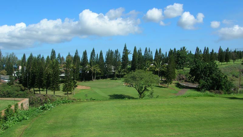 Pukalani Country Club 8th hole from back tees