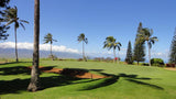 Pukalani Country Club 2nd green with great ocean and mountain views