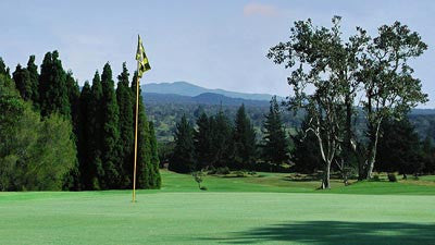 Volcano Golf & Country Club only minutes from an active Volcano