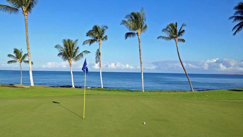 The Second Green at Mauna Lani North