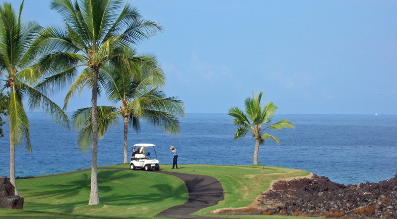 Kona Country Club Ocean golf cart