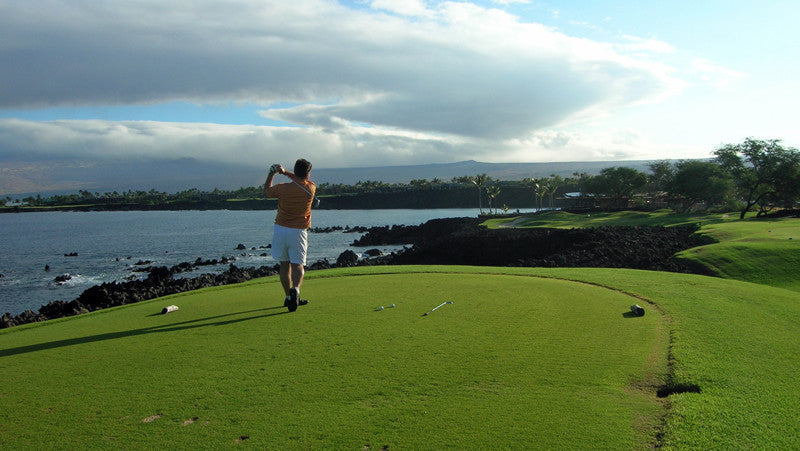 Mauna Lani South Tee Shot on Ocean Hole 7