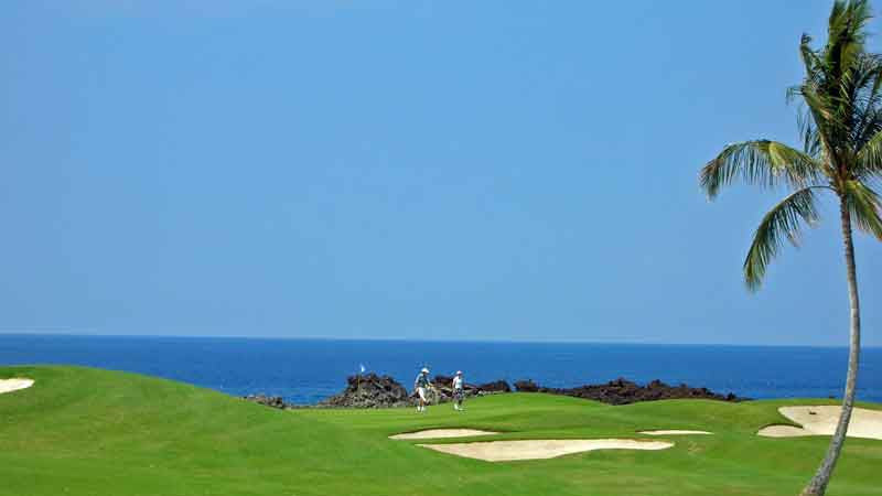 Sunny skies at Mauna Lani Golf Course in Hawaii