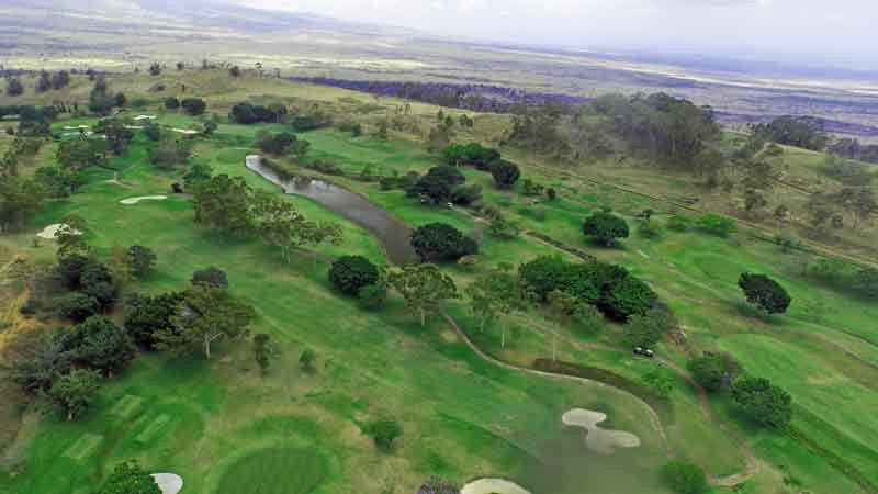 Big Island Country Club front nine aerial with drone