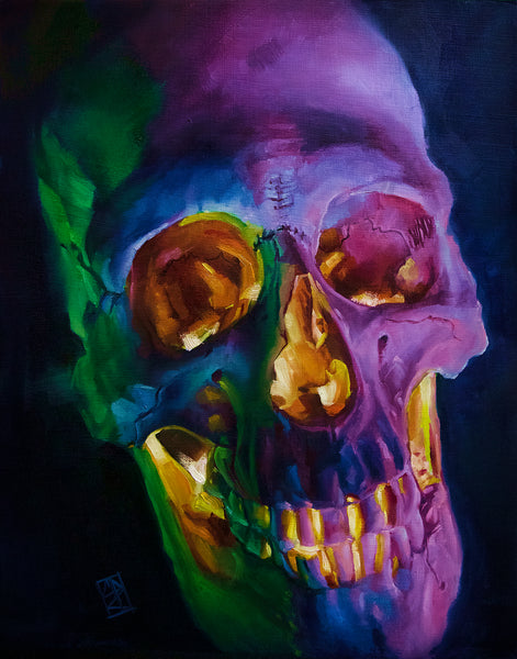 Skull oil Painting demo