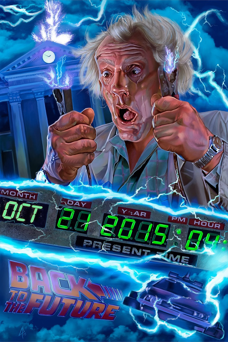 DOC BROWN CARICATURE