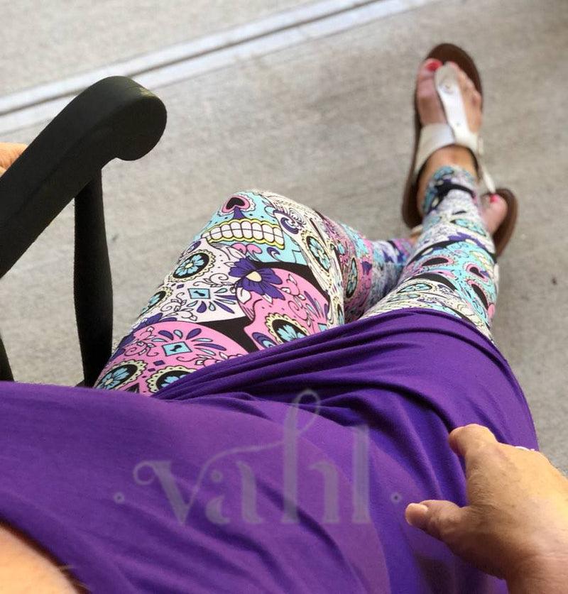 Misses Skull Leggings : Candy Sugar Skulls | VAHL