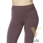 Plus Solid Violet Leggings - Wide Band