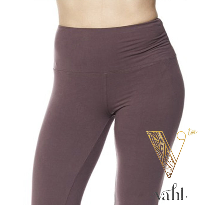 Plus Solid Violet Leggings - Wide Band | VAHL