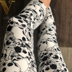 Misses Skull Capri Leggings : Decay | VAHL