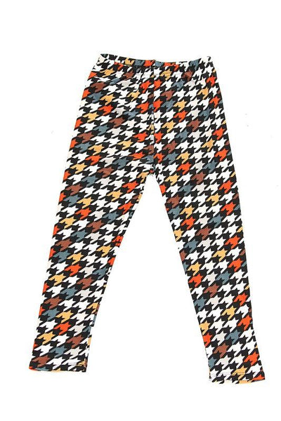 Kid's Houndstooth Leggings - Large : Fall Houndstooth | Vahl