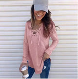Lace Up V-Neck Tunic Pre-Order