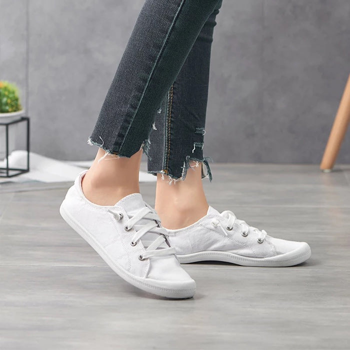 White Slip On Canvas Shoes Pre-Order