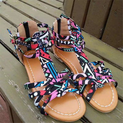 Pattern Gladiator Sandals Pre-Order