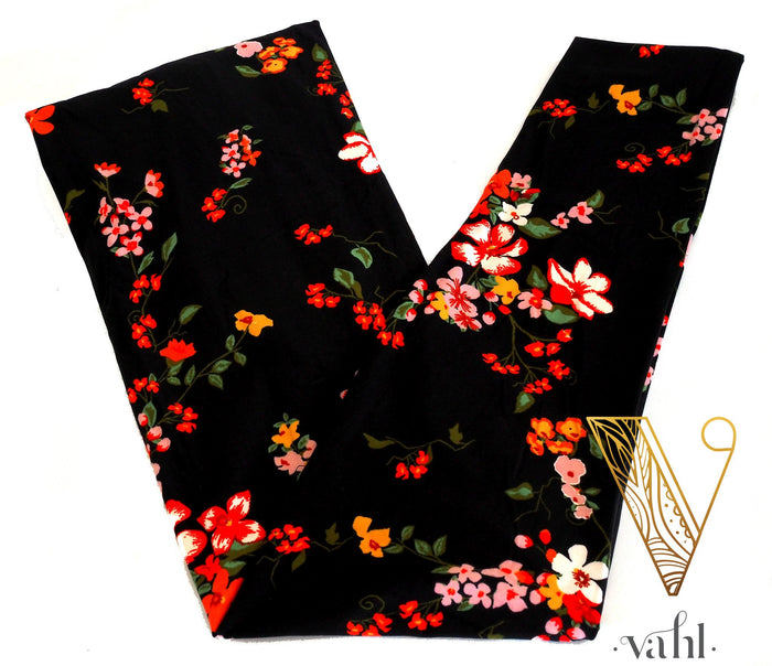 Plus Floral Leggings: Alaina | VAHL