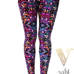 Misses Geometric Leggings  : Anna | VAHL