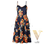 Button Accent Sun Dress - Pre-Order : XL | VAHL | VAHL