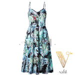 Button Accent Sun Dress - Pre-Order : Large | VAHL | VAHL