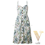Button Accent Sun Dress - Pre-Order : Medium | VAHL | VAHL