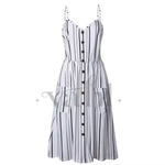 Button Accent Sun Dress - Pre-Order : 3XL | VAHL | VAHL
