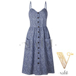 Button Accent Sun Dress - Pre-Order : Small | VAHL | VAHL