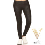 Misses Black Pleather Legging: XL | VAHL