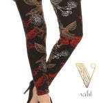 Plus Floral Leggings: Franchesca