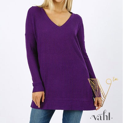 Plus Brushed Thermal Waffle Sweater : 1XL