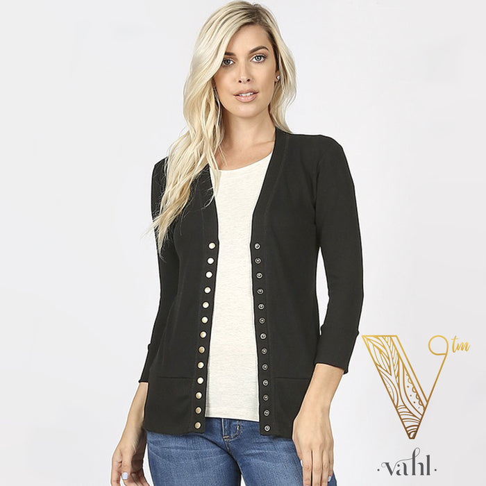 Snap Button Cardigan - Pre-order
