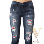 Judy Blue Distressed Bandana Skinny : Size 1