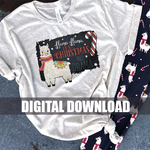 Sublimation Design Digital Printable File Download : Christmas Llama No Drama