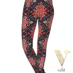 Plus Aztec Leggings : Ruby