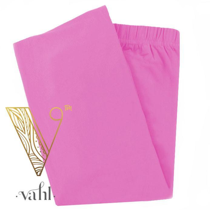 Misses Solid Pink Leggings | VAHL