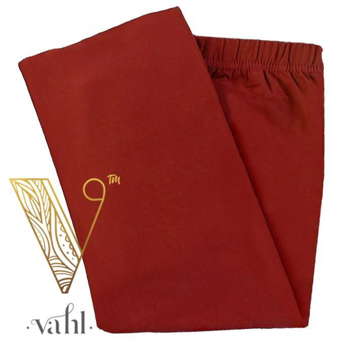 Misses Solid Red Leggings | VAHL