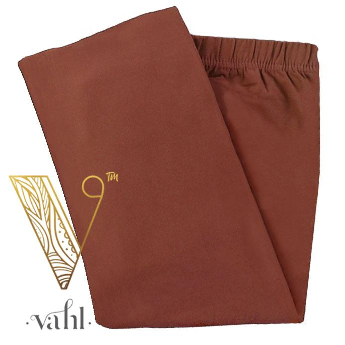 Plus Solid Leggings - Capri | Vahl : Rust