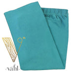 Misses Solid Teal Capri Leggings
