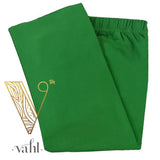 Misses Solid Green Leggings - Capri | Vahl : Kelly Green