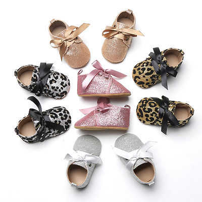 Glitter Baby Girl Crib Shoe's