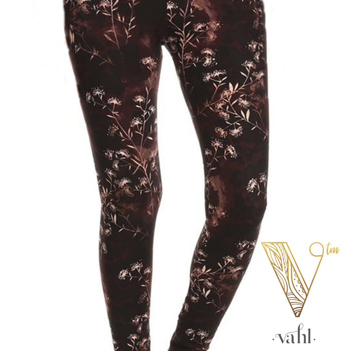 Misses Floral Leggings -  Wide Band : Fortley | VAHL