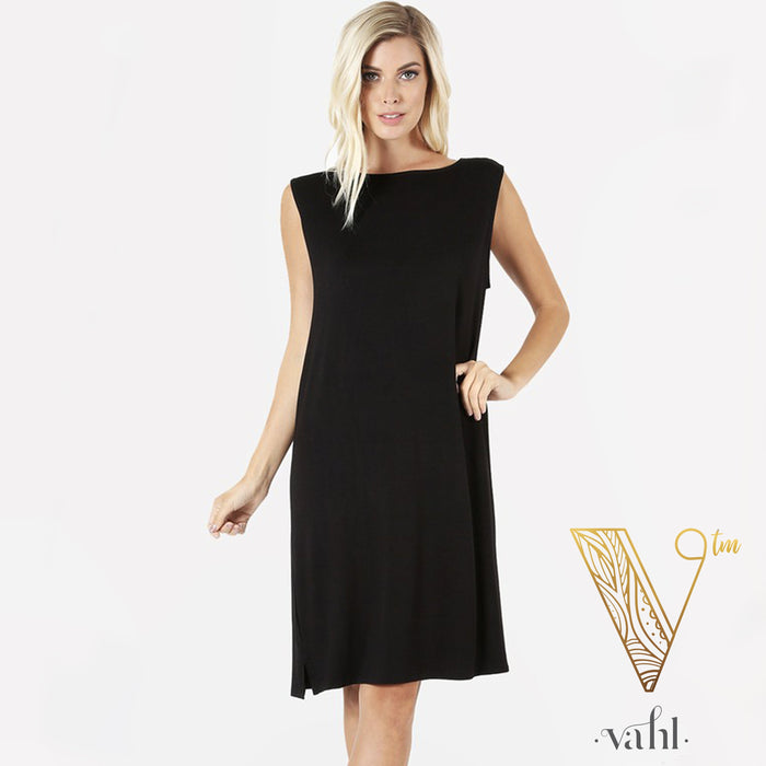 Knee Length Rayon Tank Dress | VAHL